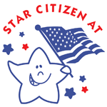 0485 - Flag Waving Star