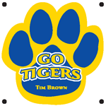 1056 - Go Tigers Paw Magnet Cus
