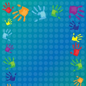 1973 - Colored Handprints and D