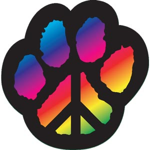 2605 - Paw Peace Sign