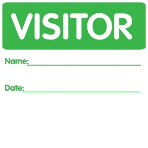 3989 - Visitor Pass Sticker