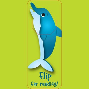 4032 - Dolphin Bookmark