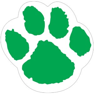 4287 - Green and White Paw