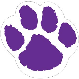 4288 - Purple and White Paw