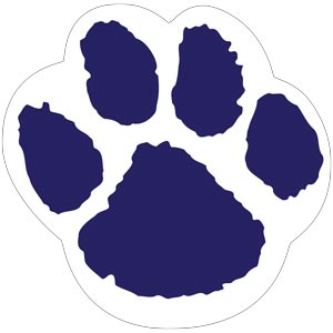 4290 - Blue and White Paw
