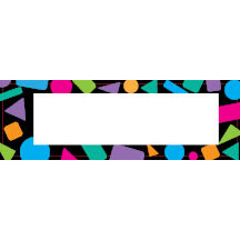 1609 - Shapes 80s colors border