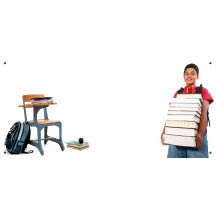 0139 - Chair & Child with Books