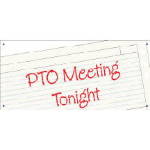 2377 - PTO Meeting banner paper