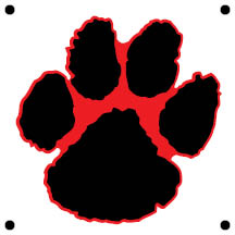 2397 - 2 color paw