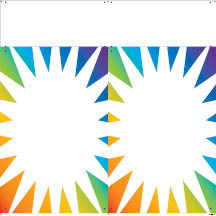 0305 - Multi Color Sunburst