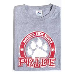 Paw Pride Youth T-Shirt - Red Design
