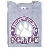 Paw Pride Youth T-Shirt - Purple Design