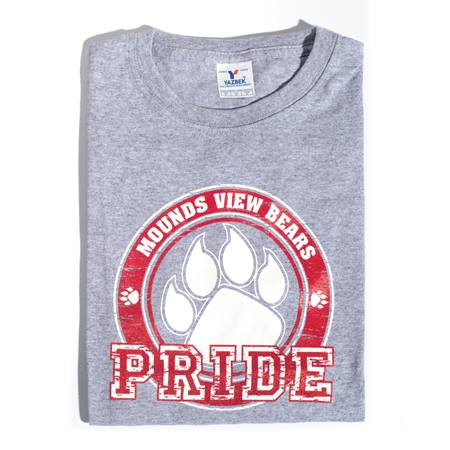 Paw Pride Adult T-Shirt - Red Design