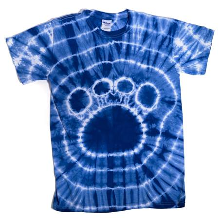 tie dye paw t shirt youth size anderson 39 s