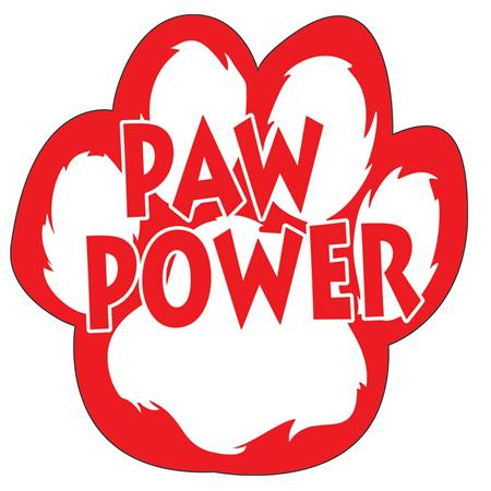Paw Power Bumper Magnet - Red