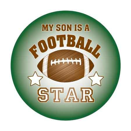 Football Star Car Magnet