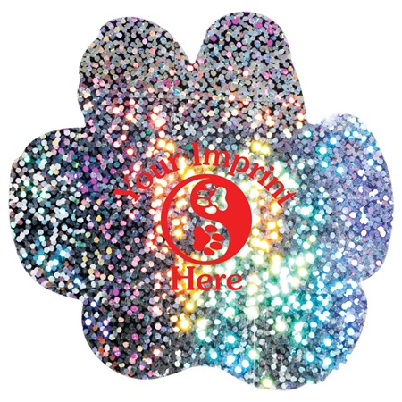 Paw-shaped Prism Glitter Decal