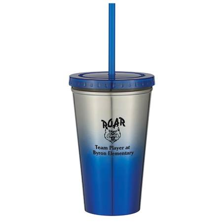 Chroma Tumbler with Straw
