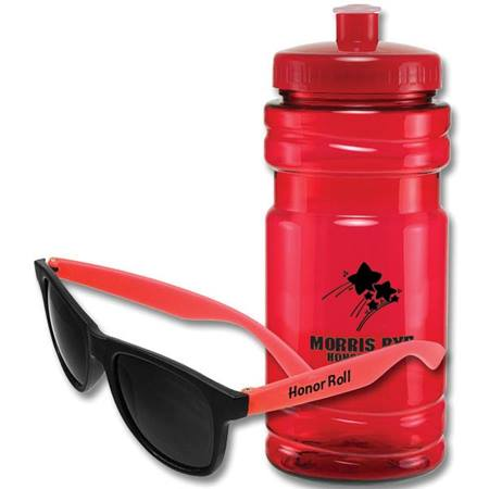 Sport Bottle and Sunglasses Set
