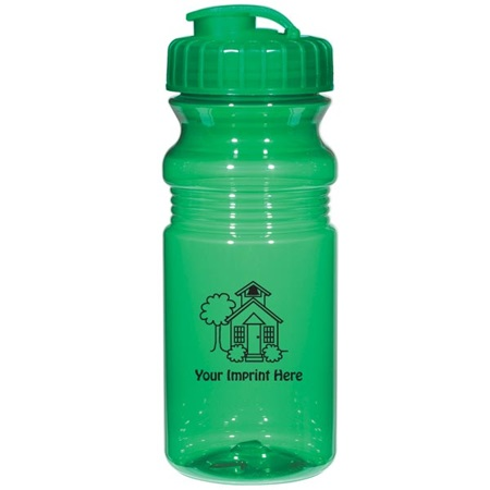 Translucent Fitness Bottle Sipper-20oz