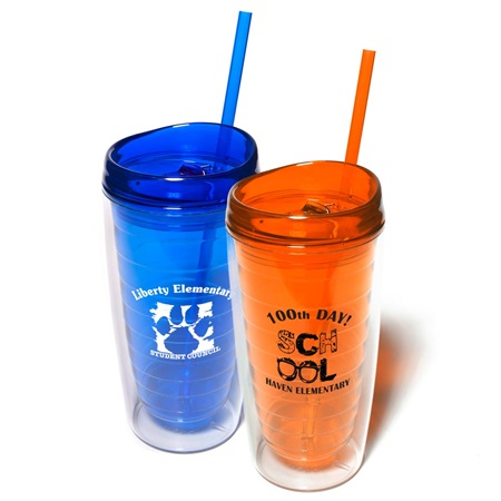 16 oz. Tumbler Cup with Straw