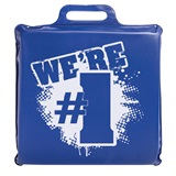 """We're #1"" Seat Cushion - Blue"