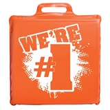 """We're #1"" Seat Cushion - Orange"
