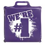 """We're #1"" Seat Cushion - Purple"