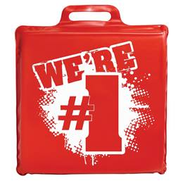 """We're #1"" Seat Cushion - Red"