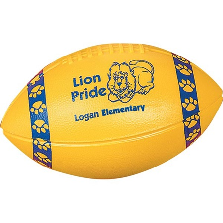 Mini Plastic Football with Stripes/Paws