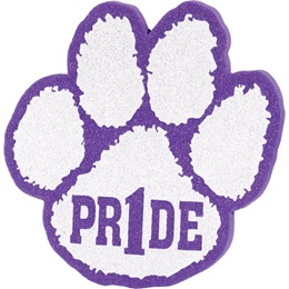 "Foam ""Pride"" Paw Mitt - Purple/White"