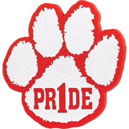 "Foam ""Pride"" Paw Mitt - Red/White"