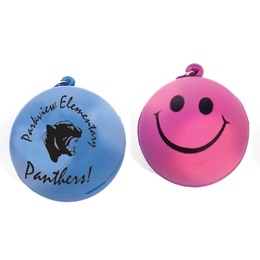 Smiley Mood Stress Ball Key Chain