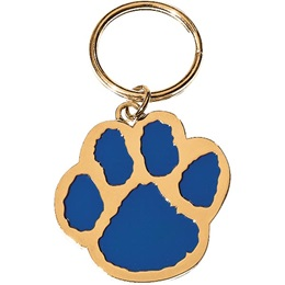 Blue/Gold Paw Key Chain - Custom