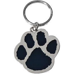 Black and Silver Paw Key Chain