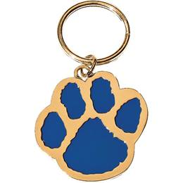 Blue/Gold Paw Key Chain - Blank