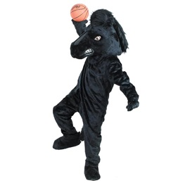 Black Stallion Mascot Costume
