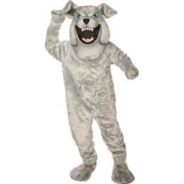 Gray Bulldog Mascot Costume