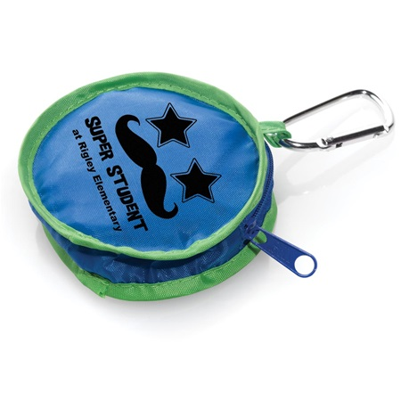 Round Coin Holder With Carabiner