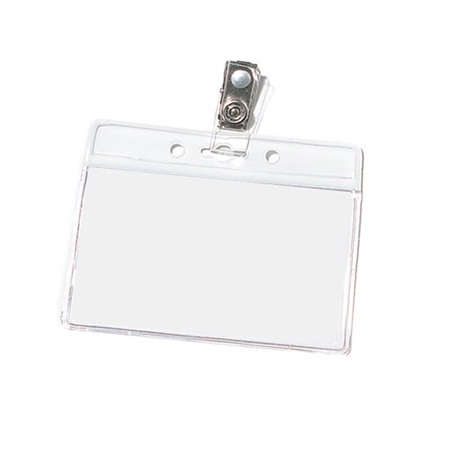 Blank Horizontal ID Holder with Clip