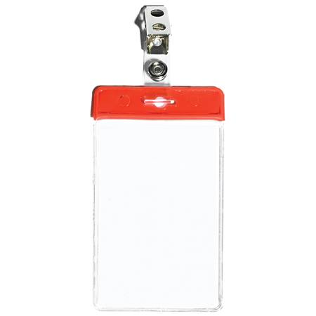 Blank Vertical ID Holder with Clip