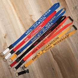 Two-color Personalized Neck Strap With Key Fob