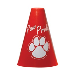Paw Pride Megaphone - Red/White