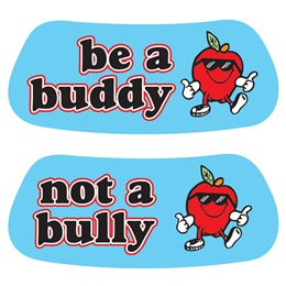 Anti-Bully Eye Black - Be a Buddy Apple