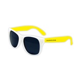 Kids' White Frame Neon Sunglasses