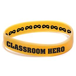 Custom Double Sided Wristband - Yellow