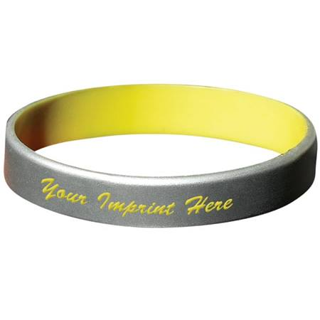 Silicone Wristband With Colored Overlay