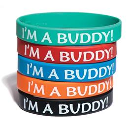 I'm A Buddy! Wristband Assortment, 25/pkg