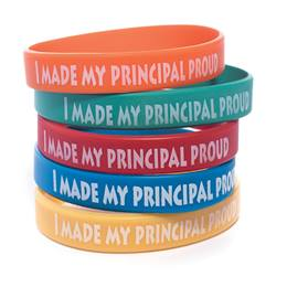 I Made My Principal Proud Silicone Wristband