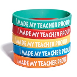 I Made My Teacher Proud Wristband Assortment, 25/pkg